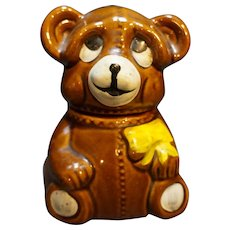 Houston Foods Honey Bear Pottery 1982