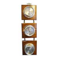 Springfield Weather Station Thermometer Hygrometer Wall Mount Wood Plaques
