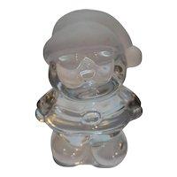 Santa Claus Solid Art Glass Figurine Taiwan