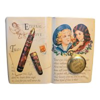 Silver Crane Co Eternal Love Embossed Book Shaped Tin 1995