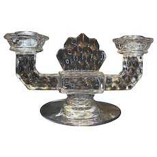 Fostoria American Double Light Flat Foot Candle Holder