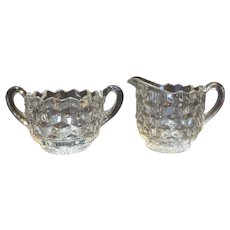 Fostoria American Cream Sugar Pair Small Size