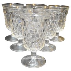 Fostoria American Low Water Goblets Set of 6