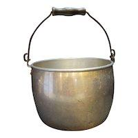West Bend Aluminum Bucket Pail Pot Wood Handle