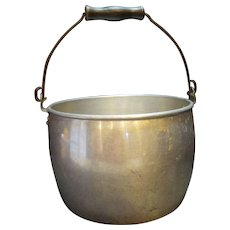 West Bend Aluminum Bucket Pail Pot Wood Handle