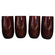 Royal Ruby Roly Poly Tumblers Set of 4 12 OZ Water Cooler