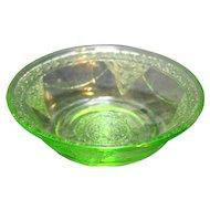 Federal Glass Georgian Green Berry Bowl