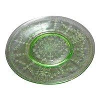Rose Cameo Green Depression Salad Plate Belmont Tumbler