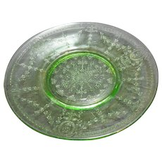 Rose Cameo Green Depression Salad Plate Belmont Tumbler