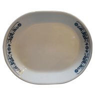 Corelle Old Town Blue Onion Oval Platter