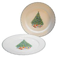 Salem Noel Chop Plate Round Platter Arcopal France Christmas Tree