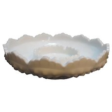Fenton Hobnail Milk Glass Ashtray Chip Dip Candle Bowl 3778