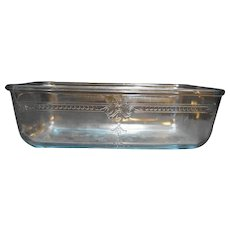 Fire King Anchor Hocking Sapphire Blue Philbe Loaf Pan Ovenware