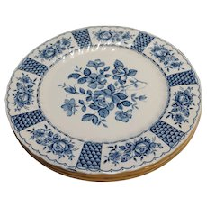 Franciscan Melody Blue White Dinner Plates Staffordshire England