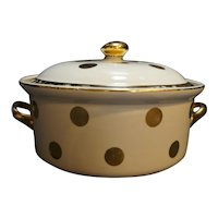 Hall Gold Dot Kitchenware Casserole With Lid 1940s Eva Zeisel