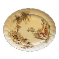 Johnson Bros England The Old Mill Oval Platter 12 IN