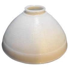 Corning Torchiere Lamp Shade White Milk Glass Ribbed