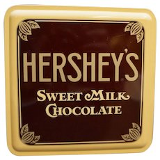 Hershey's Sweet Milk Chocolate Tin Vintage Advertising 1990