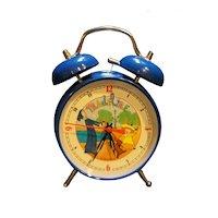 Madeline Schylling Blue Alarm Clock Jumping Dog 1998