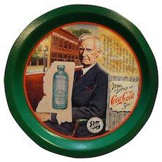 Coca-Cola 85th Anniversary Tray Joseph Biedenharn Vicksburg Mississippi