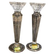 Waterford Crystal Marquis Festivale Candle Sticks NIB 6 IN