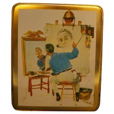 Norman Rockwell Tin Various Paintings Case Manufacturing