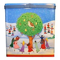 12 Days of Christmas Popcorn Tin Large Rectangle Olive Can Company