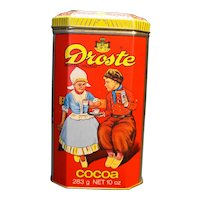Droste Haarlem Holland Cacao Chocolate Tin Made in England