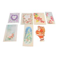 Vintage Greeting Cards Various Holidays Valentines Easter Mother's Day Set