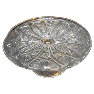 McKee EAPG Cake Stand Hobstars Cane Zippers