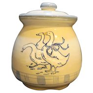 Louisville Stoneware Gaggle of Geese Cookie Jar Pot Belly Canister