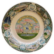 New York World's Fair 1964-65 Unisphere Souvenir Plate