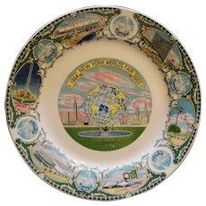 New York World's Fair 1964-65 Unisphere Souvenir Plate