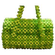 Lime Green Plastic Beaded Purse Hong Kong