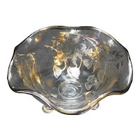Silver City Flanders Candy Dish Bowl 3 Footed