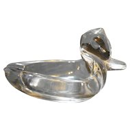 Duncan & Miller Small Duck Ashtray Clear Glass