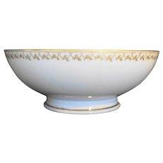 Haviland & Co. Limoges France Schleiger 780 Footed Vegetable Bowl Gold Swags