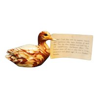 Alaska Clay Cook Inlet Duck Figurine Marbled Red Cream