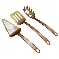 Ultratemp Amber Robinson Knife Co Corning Visions Serving Pieces Pie Server Pasta Spatula