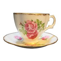 Royal Stuart Spencer Stevenson Pink Roses Cup Saucer Bone China England