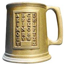 Wilton Armetale RWP Pewter Alphabet Sampler Mug Stein