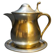 Woodbury Pewter Syrup Pitcher Underplate Saucer Set