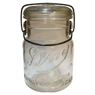 Drey Ever Seal Improved 1930s Pint Canning Jar Wire Bale