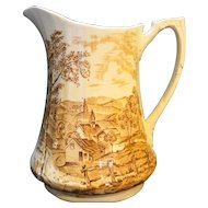 Alfred Meakin Reverie Brown Transferware 7 IN Pitcher