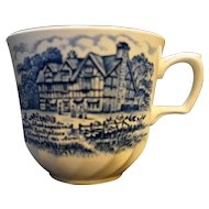 Shakespeare in The Country Blue Royal Essex Tea Cup