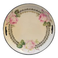 Schwarzenhammer Hand Painted Porcelain Cake Plate Roses