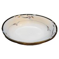 Gorham Manhattan Oval Vegetable Bowls Pair Excellent Condition Black Gold