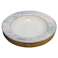 Mikasa Monet Maxima CAK01 Rimmed Soup Bowls Set of 4