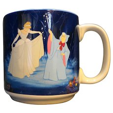 Disney Cinderella Fairy Godmother With Coach And Castle Coffee Mug Cup