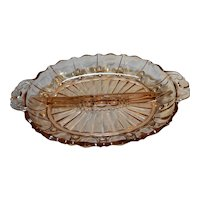 Hocking Oyster Pearl Pink Depression Glass Relish